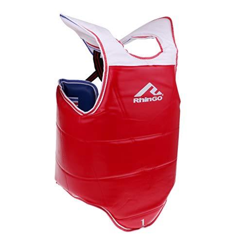 B Baosity Boxen Kampfsport Bauchschutz Brustschutz Körperschutzweste Kampfwesten für Herren Damen - XL