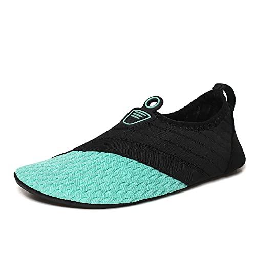 MX kingdom Unisex Zapatos de Agua Deportes Acuáticos Calzado de Natación Escarpines Hombre Mujer para Buceo Snorkel Surf Piscina Playa Vela Mar Río Aqua Cycling