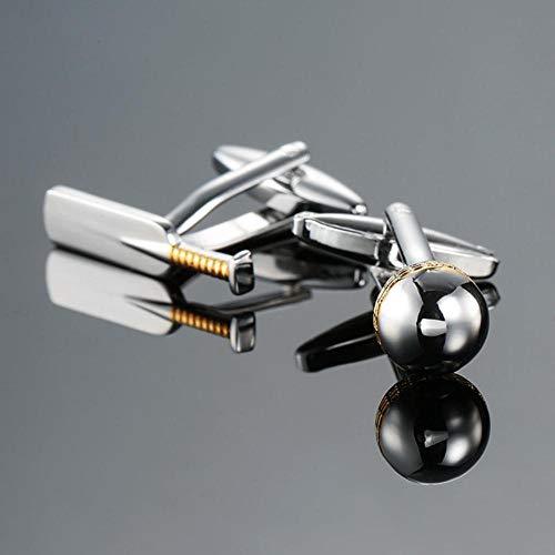 SAGIUSDM Fashion Hemd Manschettenknopf Golf Pistole Boxhandschuh Gamblers Würfel Design Kupfer Material Manschettenknöpfe, 12