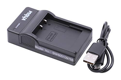 vhbw Cargador batería USB Compatible con Kodak EasyShare V803, V1003, M380, M381, M420, Z950 baterías cámaras, videocámaras, DSLR -Soporte Carga
