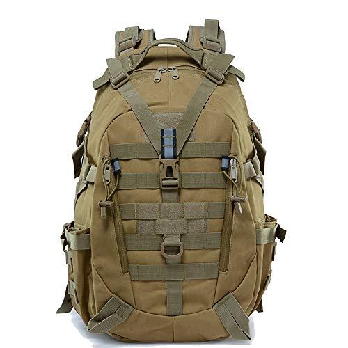 LHI Sac à dos tactique 35L pour homme, Molle Assaut Pack, sacs à dos pour ordinateur portable pour voyage trekking, Randonnée, Bronzer