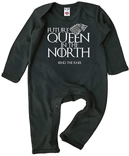 Image is Everything Future Queen in The North, GOT, Barboteuse pour bébé fille - Noir - XXXXS