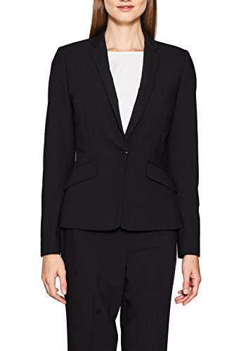 ESPRIT Collection Damen 107EO1G015 Blazer, Schwarz (Black 001), 36