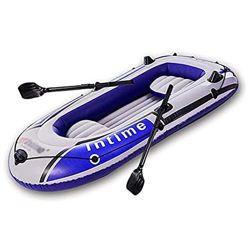 wangpu Balsa inflable para canoa, kayak inflable con bomba de aire, cuerda y remo, kayaks para 3 personas para pescar y jugar en la costa