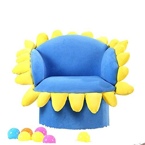 Busirsiz nórdico Living Room Chair Cojines, Cabritos del niño de un tirón Sofá En Micro Tela del Ante, de Girasol por un Relajante Juego Lounging