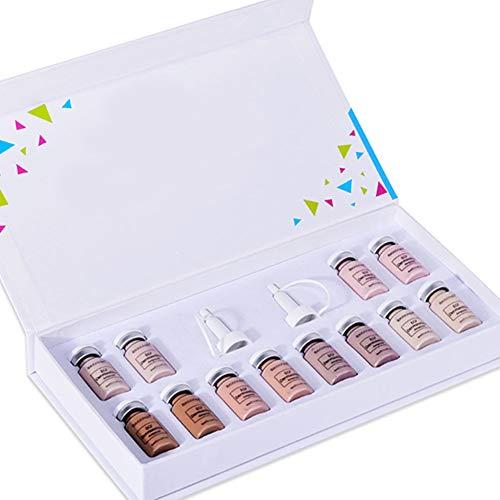 Nicejoy Fundación De Lucha contra El Acné Base Líquida Crema BB Glow Starter Kit Behandling Blanquear Anti Arrugas con Esencia De Cara para La Piel Style2