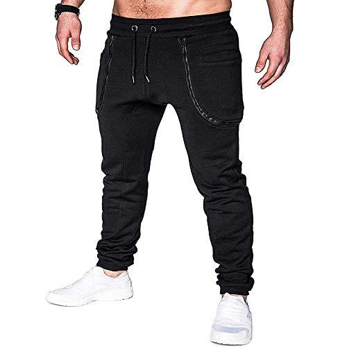 nobranded Pantalon pour Hommes, Mode, Fermeture à glissière, Couture, Ceinture, Ceinture, décontracté avec Un Cordon de Serrage pour la Course à Pied