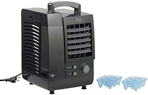 Sichler Haushaltsgeräte Mobile Mini Klimaanlage: Kompakter 3in1-Tisch-Luftkühler, Luftbefeuchter & -Luftfilter, 60 W (Mini Luftkühler)