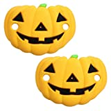 Amosfun Chupete de Halloween divertido para recién nacido, chupete para niños, juguete de enfermería, accesorios naranja (diseño de calabaza)