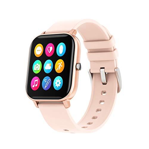 Smart Watch P8 Sports Smart Watch Fitness Heart Rate Smart Bracelet Touch-Screen IPX7 Waterproof Bluetooth Smart Watch Smart Bracelet Sports Activity Watch ((B Gold))