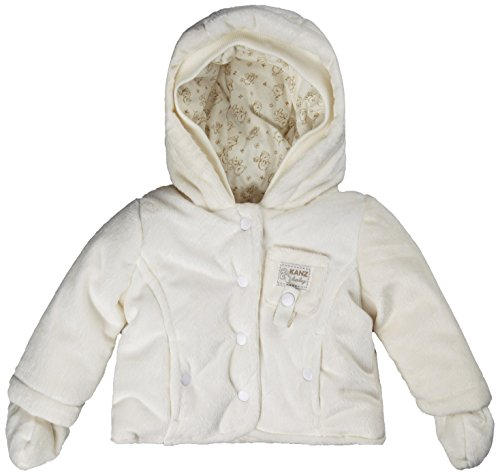 Kanz Unisex Baby Babyjäckchen m. Kapuze 1/1 Arm Jacke, Elfenbein (Snow White|White 1050), (Herstellergröße: 62)