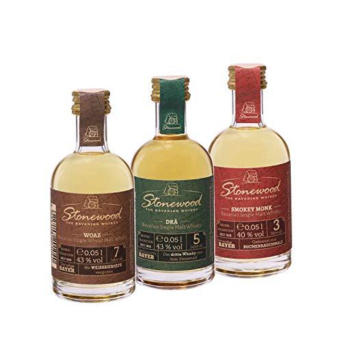 Schraml Stonewood Single Malt Whisky Probierset - 3x 0,05l