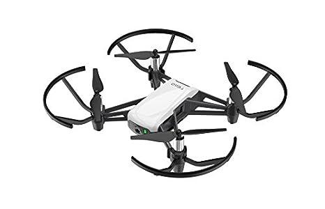 Ryze Dji Tello Mini Dron Ideal para Videos Cortos con Tomas EZ, Gafas VR y Compatibilidad con Dispositivos de Juego, Transmisión HD de 720p y Alcance de 100 Metros, Negro/ Blanco