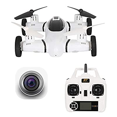 HT HONOR . TRUST FPV Drone with Camera 720P RC Quadcopter WiFi APP Control Gravity Sensor Bonus Battery Flying RC Car Air-Ground 2 in 1