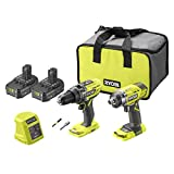 Ryobi R18PD3RID-215S 18V ONE+ Cordless Combi Drill and Impact Driver Starter Kit (2x 1.5Ah) Amazon Exclusive