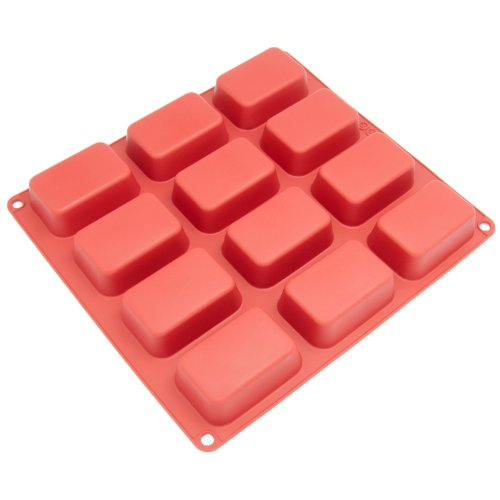 Freshware Silicone Mold, Soap Mold for Pudding, Muffin, Loaf, Brownie, Cornbread, and...