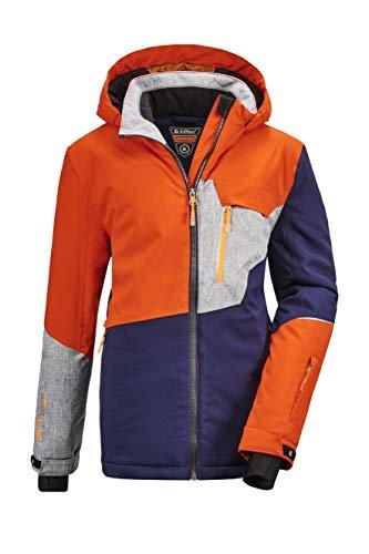 Killtec Jungen Glenshee BYS Ski Jckt B Funktionsjacke Mit Kapuze Und Schneefang, dunkelnavy, 164