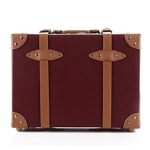 Dfghbn - Maleta vintage de estilo antiguo, estilo vintage, para estantería, recepción, decoración, cartel artesanal, almacenamiento de maleta (color rojo, tamaño: 40 x 30 x 15 cm)