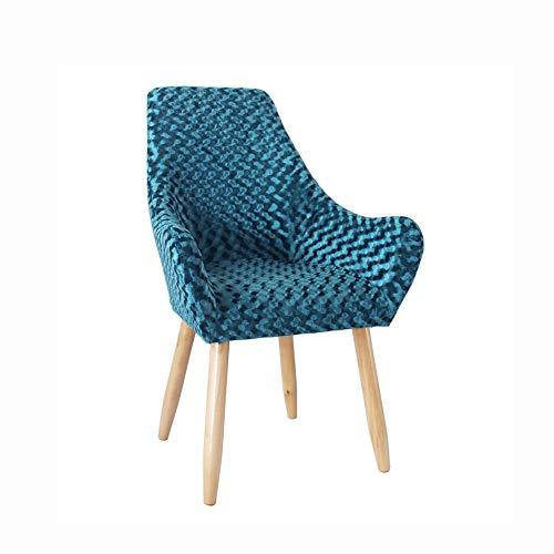 Cribel Beautiful, Poltrona in Tessuto antimacchia, Fantasia Blu, Gambe in Rovere, Design Nordico e Moderno, 64 x 68 x 95 cm
