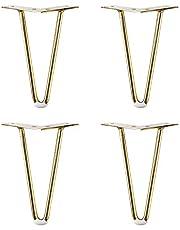 Mat zwart/titanium goud nieuwe hardware V-vormige bankpoot tv-meubel/schoenenkast/badkamermeubel/salontafel meubels ondersteuning beenhoogte 12/15/18/20/25/30 cm 4 stuks
