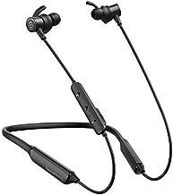 Auriculares Bluetooth 4.1 SoundPEATS Force Audífonos In-ear de Cuello Auriculares Inalámbricos Magnéticos Neckband de Contorno Cascos Deportivos con Micrófono IPX7 Doble Batería Hasta 20 Horas (Negro)