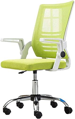 KEYREN Silla de oficina para el hogar, silla de ordenador, altura ajustable, con respaldo alto, con soporte lumbar, silla giratoria de malla, silla de rodillas (color verde)