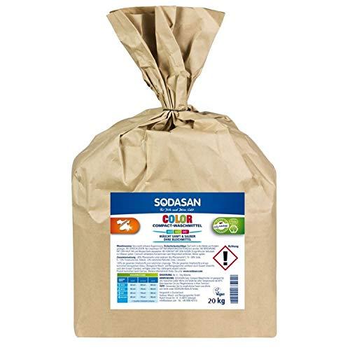 SODASAN Color Compact Waschpulver 20kg - Öko Waschmittel ohne Enzyme