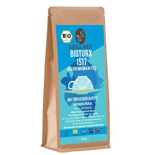 BIOTURX 1517 von Kaffeebaum | BIO Türkischer Premium Kaffee | 100% Arabica | leichte Säure Filterkaffee | Kaffeegenuss aus Honduras | Kaffee gemahlen 350g | BIO-Qualität