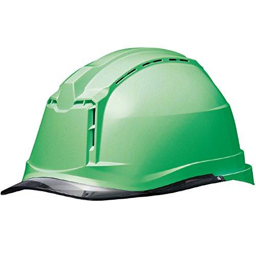 ミドリ安全 ヘルメット 作業用 PC製 クリアバイザー 通気孔付 簡易着脱内装 SC19PCLV RA3 KP付(αライナー) グリーン/スモーク