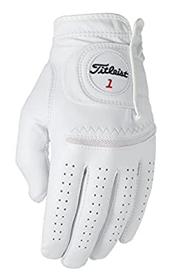 Titleist Perma Soft Golf Glove Mens Cadet LH Pearl, White(x Large, Worn on Left Hand)