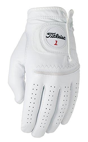 Titleist Perma Soft Golf Glove Mens Cadet LH Pearl, White(Small, Worn on Left Hand)