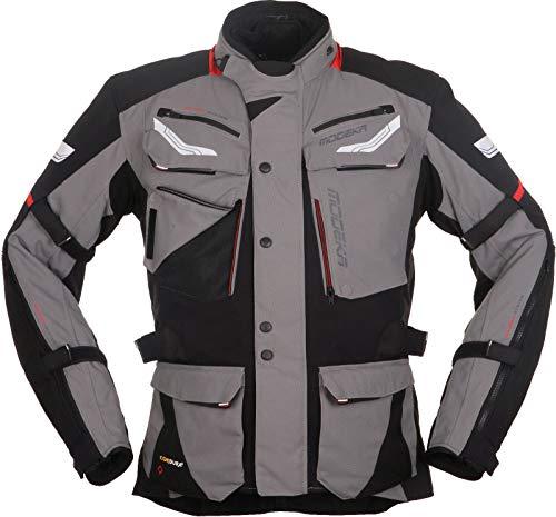 Modeka CHEKKER Herren Motorrad Textiljacke Touring - schwarz grau