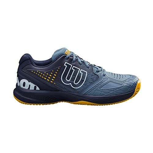 Wilson Kaos Comp 2.0 CC, Zapatilla de Tenis para Tierra Batida, tenistas de Cualquier Nivel para Hombre, Azul/Azul/Dorado, 41 1/3 EU