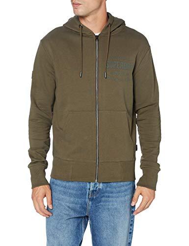 Superdry Herren Zip Hood Sweatshirt, Grün (Surplus Goods Olive LO3), Small