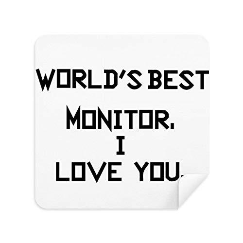World Best Monitor I Love You Gafas de limpieza gamuza limpiador de pantalla de gamuza tela 2 piezas