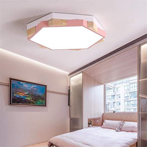 GD1 Plafonnier Rose Lampe de Chambre à Coucher pour Enfants Simple Creative Creative Garçons Et Filles Éclairage de Personnalité Personnalité Géométrique Polygone Petit Appartement Plafond