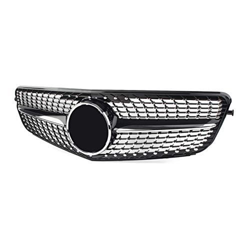 LHZBB Accesorios de carrocería Rejillas de radiador para Mercedes-Benz W204 Clase C C180 C200 C300 2009 2009 2011 2011 2012 2013 2014 Moldeo de Parrilla de Carreras Delantera de Coche Estilo Diamante