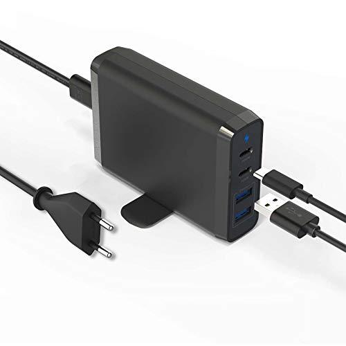 Milipow 75 W Laptop PD USB Type C Reiseladegerät, Adapter Desktop Ladestation kompatibel mit MacBook Air, MacBook Pro, Nintendo Switch, iPhone, Galaxie, Pixel & mehr