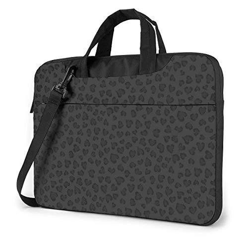 Black Leopard Pattern Unisex Laptop Bag Messenger Shoulder Bag for Computer Briefcase Carrying Sleeve
