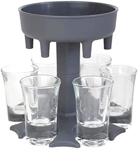 6 Shot Glass Dispenser Holder Including 6 Shot Glasses Wine Glass Rack Cooler Beer Beverage product image