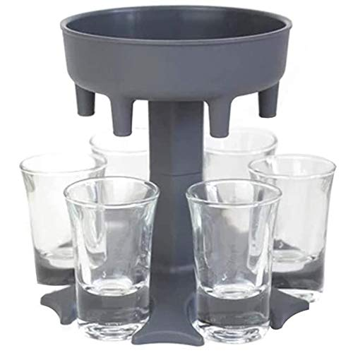 6 Schnapsglas-Spender (inkl. 6 Schnapsgläser), Weinglas-Gestell, Kühler, Bier-Getränkespender, Shot-Budys, Party-Geschenke, Bar-Zubehör, Shot-Spender zum Befüllen von Flüssigkeiten