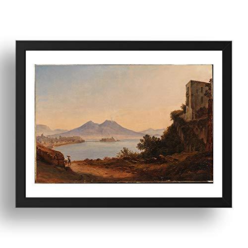 Period Prints Franz Ludwig Catel: La Bahía de Nápoles con el Vesubio...