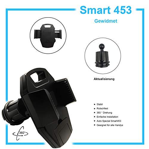 OYEFLY Handyhalterung kompatibel mit Smart Modell 453 Forfour Fortwo | Universelle Halterung für Smartphone, GPS & Tablet | 360 verstellbar für optimale Sicht | KFZ Handy Halterung (schwarz neu)