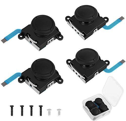 Linkstyle - Paquete de 4 palancas de Mando analógicas Izquierda/Derecha de Repuesto 3D, Cable Flexible de Sensor de Palanca de Mando para Nintendo Switch Joy-con