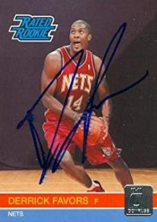 Derrick Favors autographed Basketball Card (New Jersey Nets) 2010 Panini Rated Rookie No.230