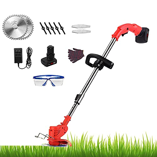 Cordless Weed Eater, Weed Eater Battery Powered, 24V Weed Trimmer, 880W...
