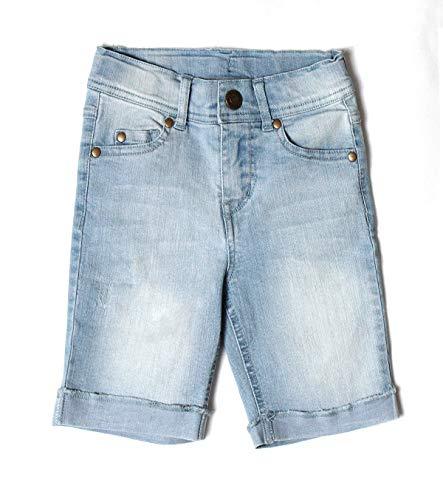 Bienzoe Mädchen Baumwolle Dehnbar Jeans-Shorts Rein Blau 16