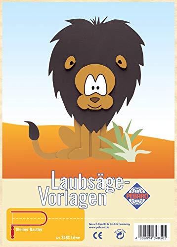 Laubsägevorlage aus Sperrholz Motiv Löwe
