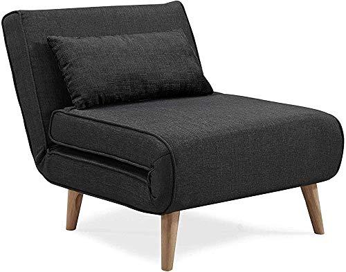 Sillón, sofá cama convertible, sillas de chimenea, sala de estar, oficina, dormitorio,Black