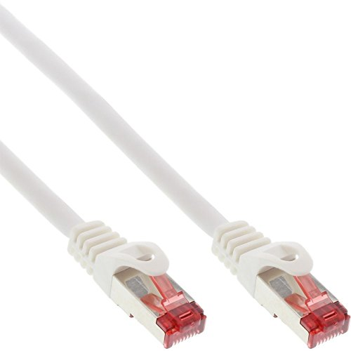 InLine 76433W Patchkabel, S/FTP (PiMf), Cat.6, 250MHz, PVC, Kupfer, weiß, 0,3m